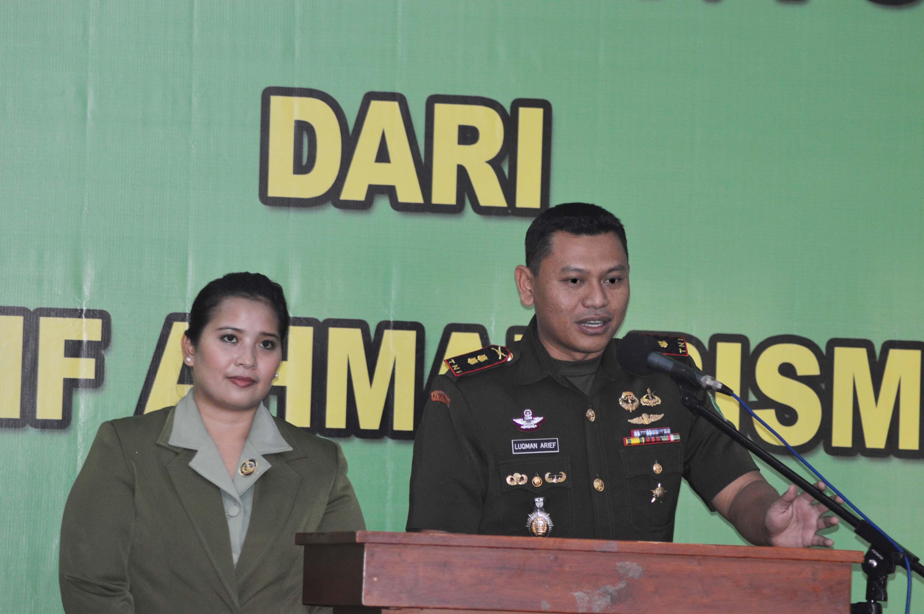 Dandim Baru Letkol Inf. Luqman Arief
