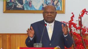 Sambutan Bupati Puncak Jaya Drs. Henok Ibo dalam Hut Jemaat GKI Bethel Mulia ke 28