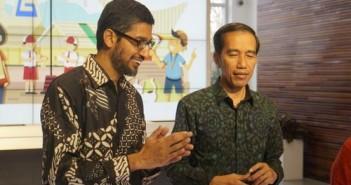 Presiden Joko Widodo bersama CEO Google Sundar Pichai