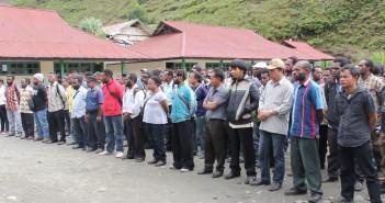 Para Peserta Yang Akan mengikuti tes pendamping Kampung