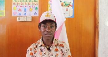 salah satu siswa SD Tingginambut saat melafalkan Pancasila