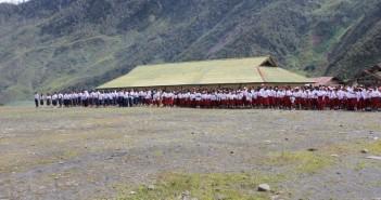 Upacara Perayaan Hardiknas DI SMP N Mulia