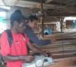 alah Satu Peserta Pelatihan Gema Saya NKRI saat berlatih menggunakan Ketam Mesin