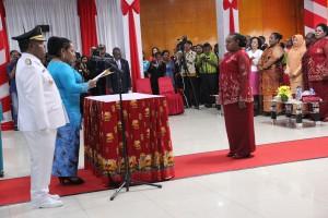 Pelantikan Ketua TP-PKK Kabupaten Puncak Jaya oleh Ketua TP-PKK Provinsi Papua
