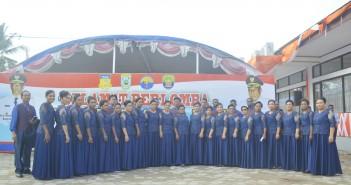 Peserta Pesparawi Puncak Jaya yang mengikuti Lomba di Kaimana Papua Barat