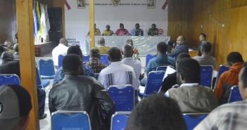 Suasana Diskusi Tentang Penetapan Pembagian Daerah Pemilihan