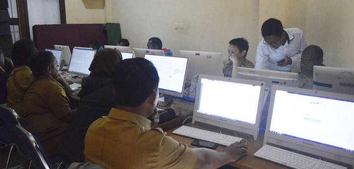 SUASANA PELAKSANAAN TAHAPAN E-LEARNING UJIAN SERTIFIKASI PBJ