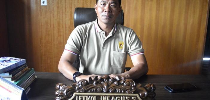Dandim 1714/PJ Letkol Inf. Agus Setyawan Saat melakukan wawancara ekslusif di ruang kerjanya (08/11).