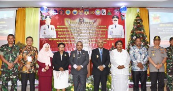 Bupati Puncak Jaya bersama Forkopimda Puncak Jaya seusai Perayaan 2 Tahun Kepemimpinan, Hut Kabupaten Puncak Jaya ke - 23 dan Natal Gabungan