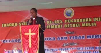 KKR dan Peringatan HPI ke 165 Tahun yang dipimpin oleh Pimpinan Jemaat GKI Bethel Mulia Pdt. Adriana Sirloy, S.Si