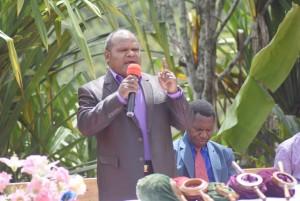 Sambutan Bupati Puncak Jaya saat Pembaptisan 193 orang
