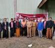Ketua FSN Mulyadi, S.Sos, M.AP, M.KP didampingi Para Tukang Cukur Berpengalaman saat Penyelenggaraan Pangkas Rambut Kemerdekaan dalam Rangka HUT RI ke - 75